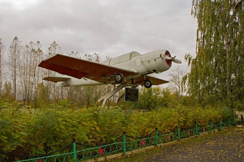 Памятник летчику Юрию Лямину, Пермский р-н, поселок Ферма.
