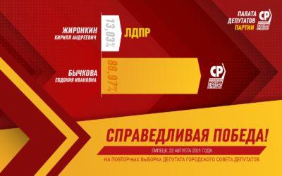 Евдокия Бычкова одержала уверенную победу на выборах в Липецке