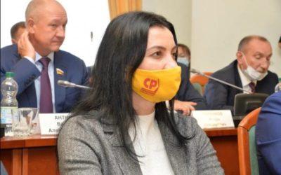 Татьяна Гриневич займется в региональном парламенте вопросами бюджета, ЖКХ и экологии